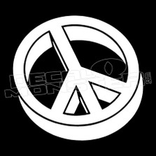 3D Peace Sign Decal Sticker