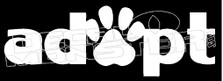 Adopt Dogs Pet Decal Sticker