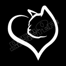 Cat Heart Pet Decal Sticker