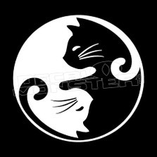 Cat ying yang Pet Decal Sticker