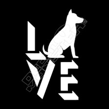 Dog love Pet Decal Sticker