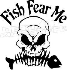 Fish Fear Me Decal Sticker