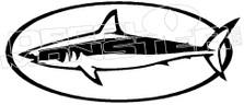 Shark Fishing Decal Sticker
