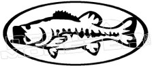 Bass Fishing Decal Sticker