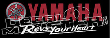Yamaha 1 Snowmobile Sled Decal Sticker