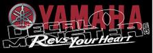 Yamaha 1 Snowmobile Sled Decal Sticker