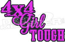 4X4 Girl Tough Decal Sticker