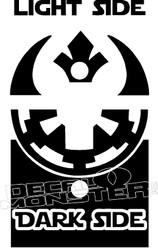 Light Side Dark Side Star Wars Decal Sticker