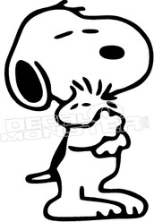 Snoopy Woodstock 2 Cool Decal Sticker