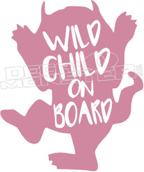 Wild Child on Board Decal Sticker