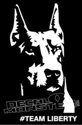 Team Liberty Doberman Decal Sticker