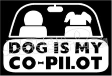 Dog is My Co-Pilot Decal Sticker