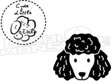 Dog Poodle 1 Decal Sticker