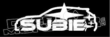 6928 Subaru Flow Decal JDM Sticker