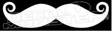 Moustache Silhouette JDM Decal Sticker