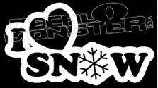 I Heart Snow JDM Decal Sticker