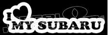 I Heart My Subaru JDM Decal Sticker