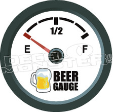 Beer Gauge Decal Sticker