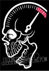 Skull Brain RPM Decal Sticker