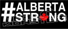 Alberta Strong Canadian Maple Leaf Decal Sticker