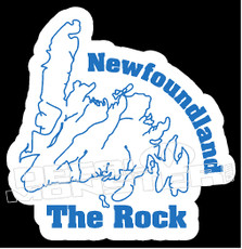 Newfoundland the Rock Decal Sticker