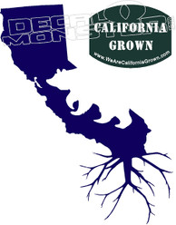 California Grown Decal Sticker