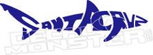 Santacruz Shark Decal Sticker
