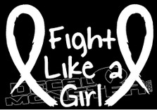 Fight Like a Girl Cancer Decal Sticker