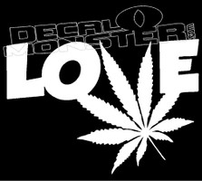 Love Weed Cannabis Decal Sticker