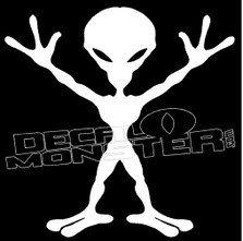 Alien Party On Guy Stuff Decal Sticker