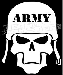 Army Skull Guy Stuff Decal Sticker