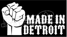 Made in Detroit Guy Stuff Decal Sticker