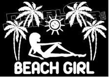 Beach Girl 2 Hawaii Decal Sticker