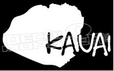 Kauai Island Hawaii Decal Sticker