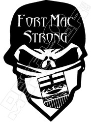 Fort Mac Strong Bandit Decal Sticker