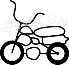 Mini Bike Retro Dirt Bike Decal Sticker
