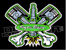 Troy Lee Designs 4 Decal Sticker