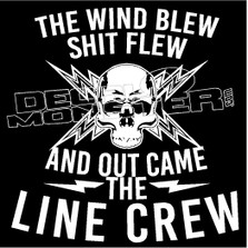 Powerline Crew Decal Sticker