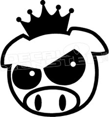 JDM King Pig Decal Sticker