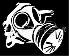 Gas Mask Silhouette Decal Sticker