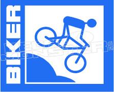 Mountain Biker 1 Silhouette Decal Sticker