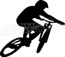 Mountain Biker 2 Silhouette Decal Sticker