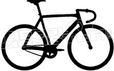 Street Cycling 1 Silhouette Decal Sticker