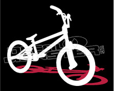Bmx Shadow Silhouette Decal Sticker