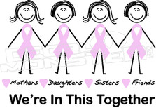 Fight Cancer We're In This Together Decal Sticker