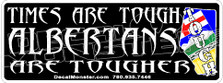 Alberta Tough Alberta Strong 1 Decal Sticker