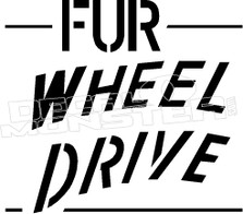 Fur Wheel Drive Decal Sticker