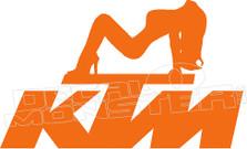 KTM Hot Girl Decal Sticker