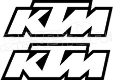 KTM Hollow Outline Decal Sticker