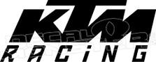 KTM Racing Decal Sticker